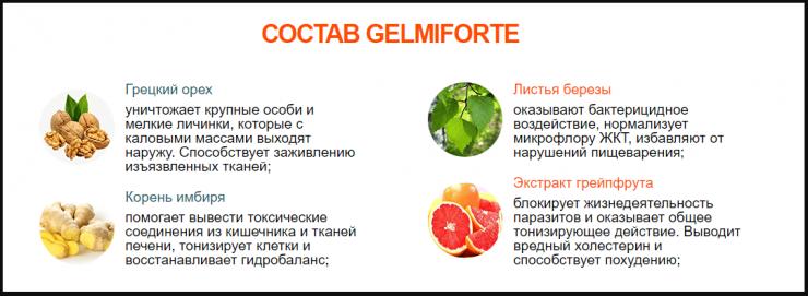 Состав Gelmiforte